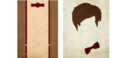 22 carteles minimalista del Doctor Who