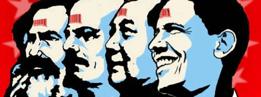 Marx, Lenin, Mao y Obama