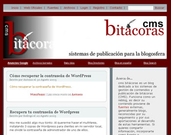 cms bitácoras general
